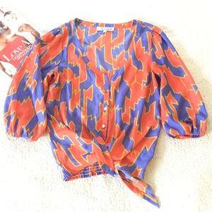 Annabella Bold Printed Tie Waist Size M